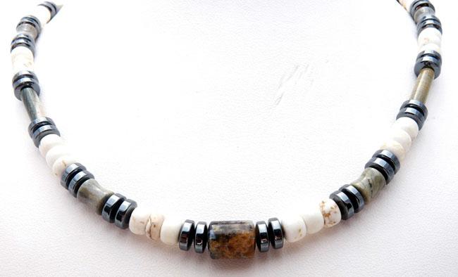 MN0009C-Mens-White-Turquoise-Jasper-Healing-Energy-Chakra-Necklace